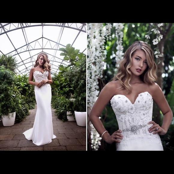 Marisa Bridal Ivory Crepe 118 Wedding Dress | Poshmark